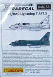 X48153  1/48 BAC/EE Lightning T.4/T.5 decals (6)